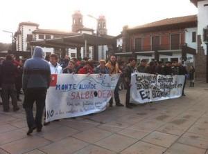 Manifestación en Elizondo contra los proyectos mineros Zilbeti , Erdiz y Aurzberri-Espinal