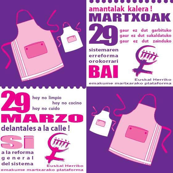 M29an Etxe hau greban. Amantalak kalera! | El 29M esta casa en huelga. Delantales a la calle!