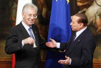 Crisis de gobierno, el juego de Berlusconi y las cartas de Monti