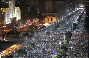 Más de un millón de personas en las calles de Brasil