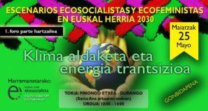 Un foro de encuentro para todos los colores del ecosocialismo feminista vasco
