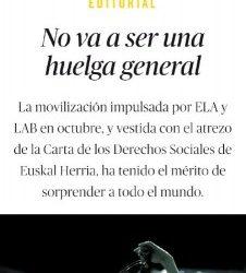 """U30-Es y debe ser """"Una gran Huelga General"""""""