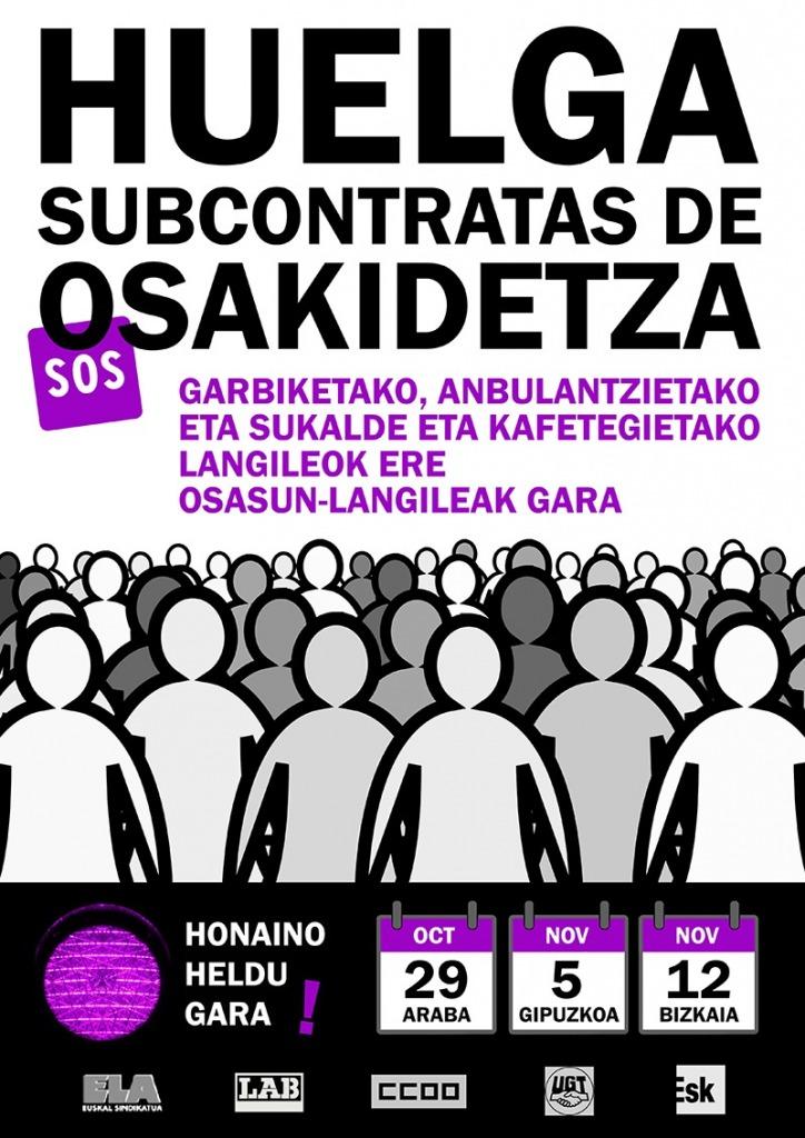 Huelga en las subcontratas de Osakidetza